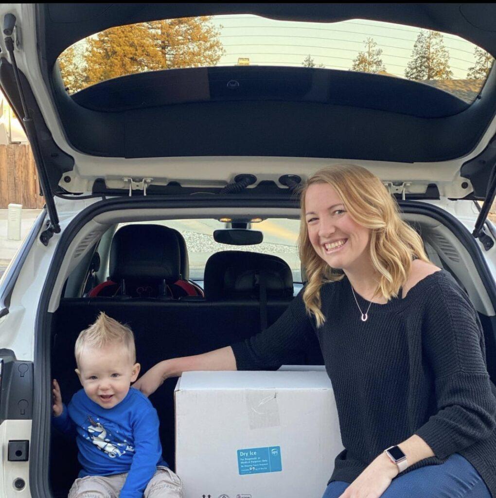Shipping breast milk donation