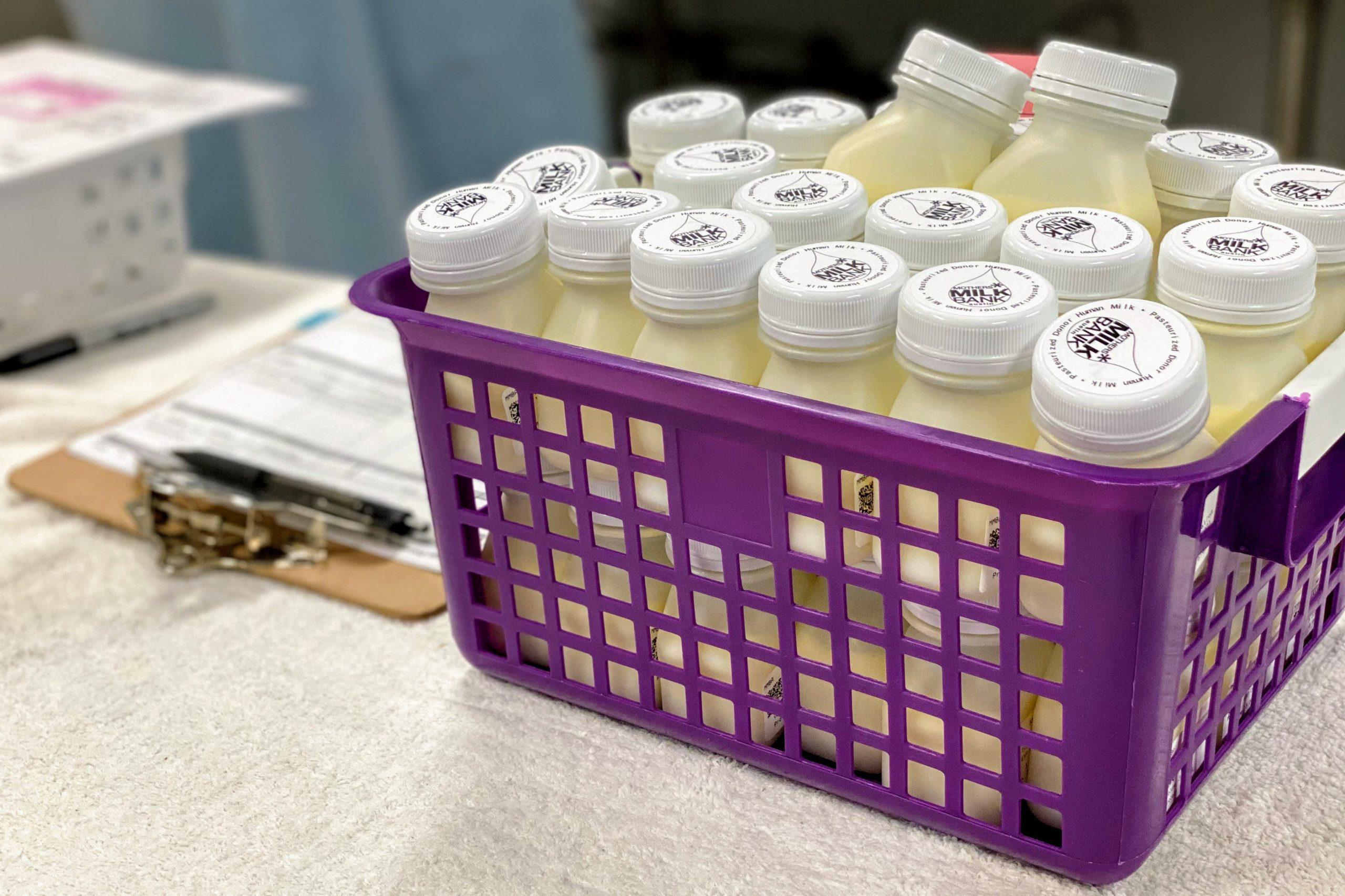 bottles of donor human milk